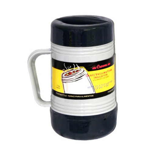0.5 Liter Glass Vacuum Food Thermo; Gray 2-Tone Color (FT05)