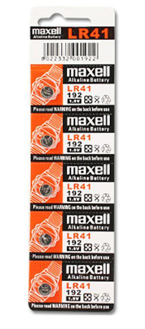 Maxell LR41 Alkaline 1.5V Coin Cell Battery (AG3 392 192)