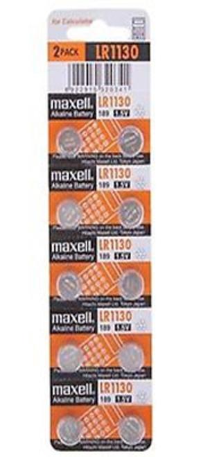 Maxell LR1130 35mAh 1.5V Alkaline Coin Cell Battery (LR-1130)