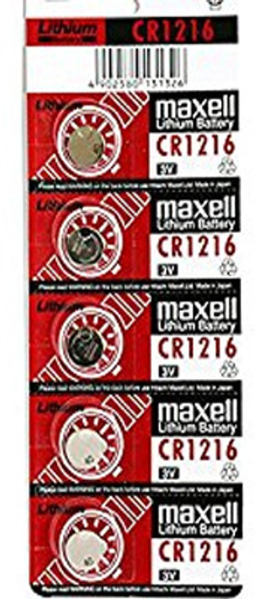 Maxell CR1216 3V Lithium (LiMNO2) Coin Cell Battery