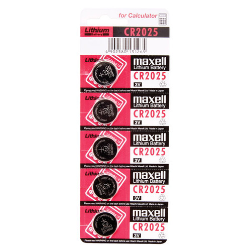 Maxell CR2025 3V Lithium (LiMNO2) Coin Cell Battery