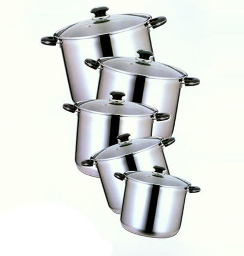 24 QT STAINLESS STOCK POT