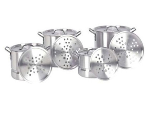 4 Piece Aluminum Nested Stock Pot  WITH Steamer ( Included )