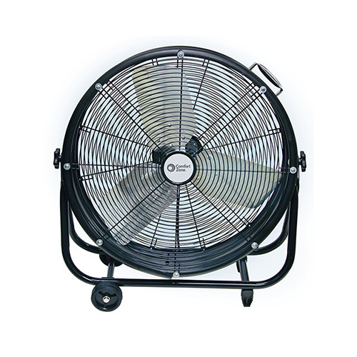 CZMC24 24-inch Barrel Direct Drive Industrial Fan, Black
