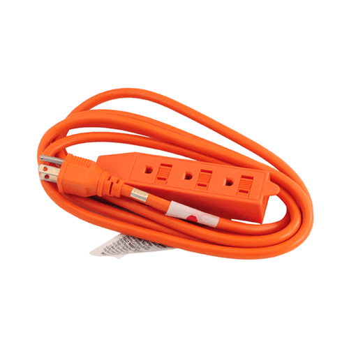 16 GAUGE 8FT OUTDOOR EXTENSION CORD 3 OUTLET