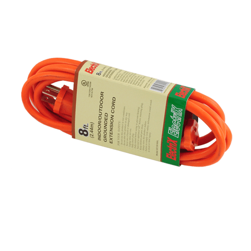 16 GAUGE 8FT OUTDOOR EXTENSION CORD