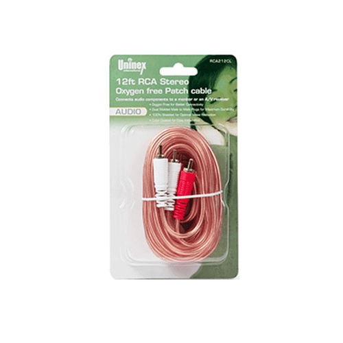 12 Foot RCA Stereo Oxygen Free Patch Cable