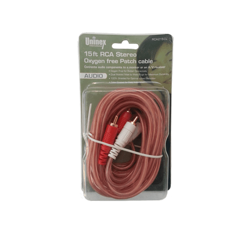 15 Foot RCA Stereo Oxygen Free Patch Cable
