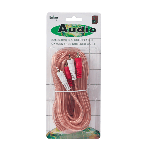 20 Foot RCA Stereo Oxygen Free Patch Cable