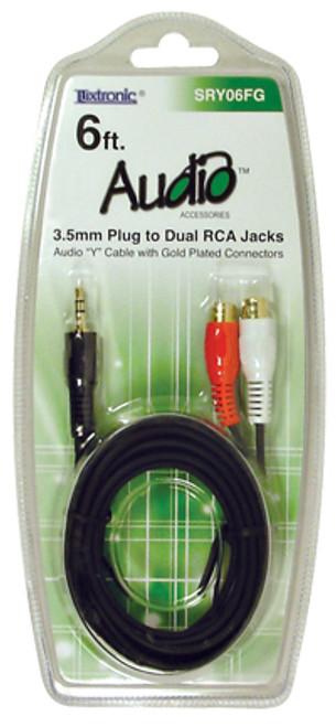 SRY06FG-6 ft. 3.5mm Stereo Plug to RCA Jacks Cable