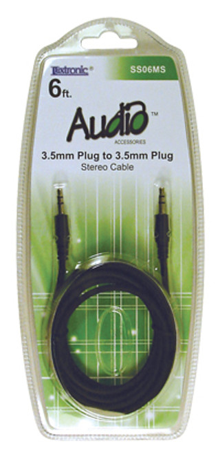 SS06MS-6ft. 3.5mm Plug to 3.5mm Plug Audio Cable [SS06MS]