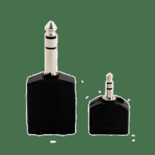 2 PACK OF 3.5MM & 6.3MM HEADPHONE SPLITTER