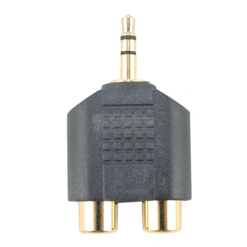 3.5mm Stereo Plug to RCA Double Jacks Adapter.