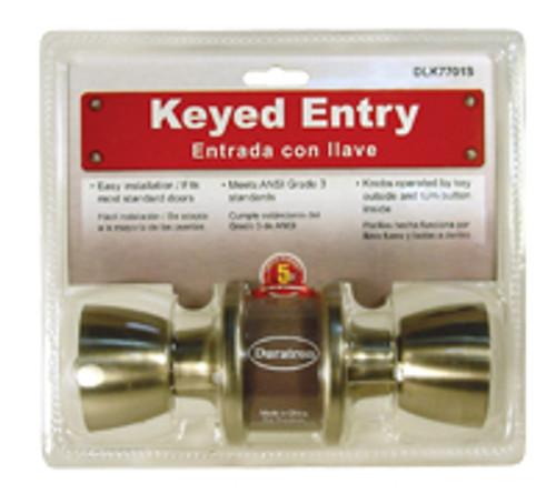Entrance Lockset-Tulip Knob
