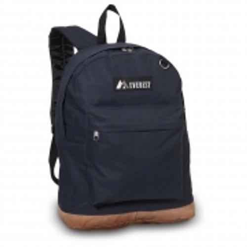 Suede Bottom Backpack  NAVY