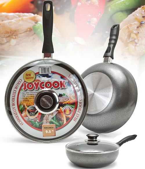JOYCOOK -  24CM WOK PAN WITH GLASS LID