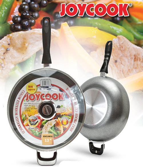 JOYCOOK -  32CM WOK PAN WITH GLASS LID