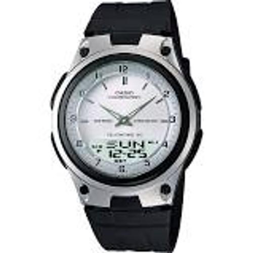 Casio Men's AW80-7AV World Time Databank 10-Year Battery Black Band Watch