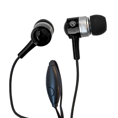 EVOGUE BASIC IN-EAR STEREO HANDS FREE WITH IN-LINE MICRO PHONE (BLACK)