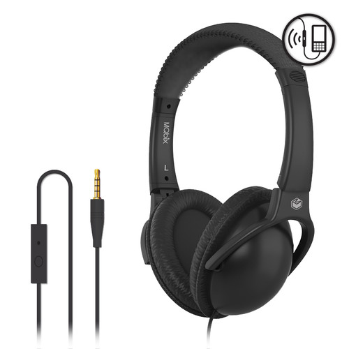 High Performance Stereo Headphones with Microphone ( BLACK )