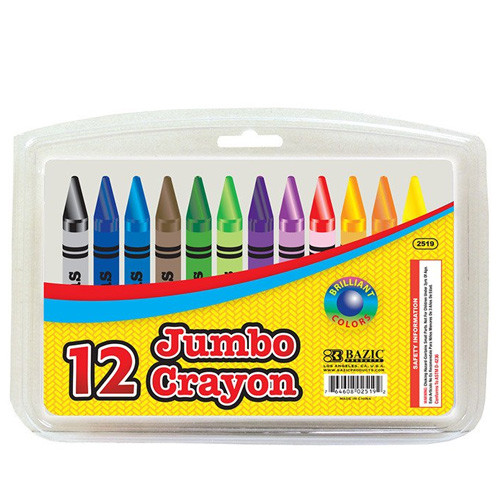 BAZIC 48 Ct. Premium Quality Color Crayons