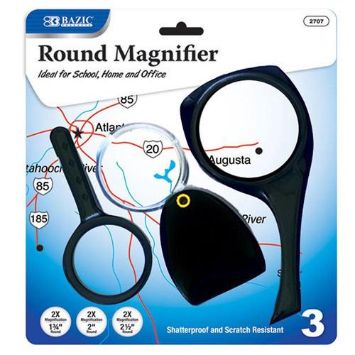 BAZIC 2x Magnifier Sets (3/Pack)