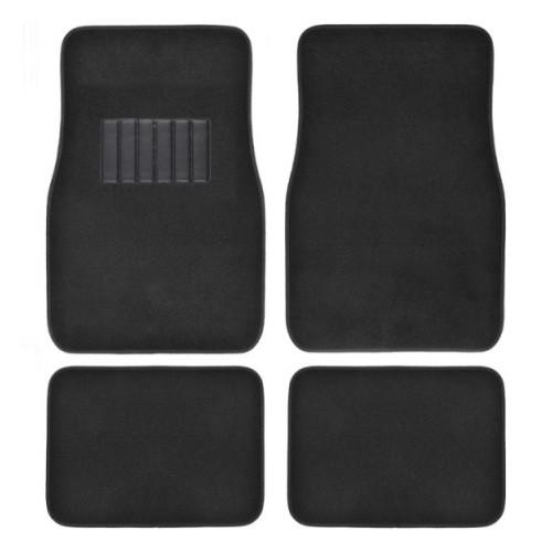 Auto Carpet Mats 4pcs  BLACK