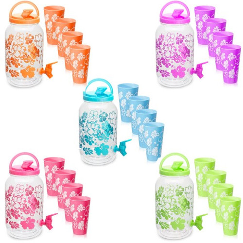 Water Bottle Beverage Dispenser/ Free 4 Cups - BPA-Free Dispenser