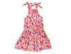 Toddler & Kids Fluorescent Print Tiered Dress