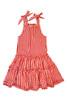 Toddler & Kids Bandana Red Plaid Tiered Dress