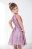 Toddler & Kids Purple Blush Floral Sheer-Overlay A-Line Dress