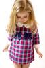 Infant Toddler & Kids Navy/Red High Waist Plaid Dress