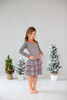 Infant Toddler & Kids Dark Melange Polka Dot Ruffle Dress