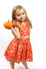 Sample Sale Burnt Orange Floral Brocade Dress