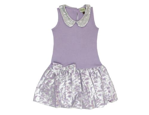 Sample Sale Wisteria Brocade Drop-Waist Dress
