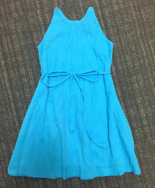 Sample Sale Turquoise Crinkle A-line Dress