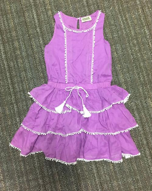 Sample Sale Purple Ruffle Dress