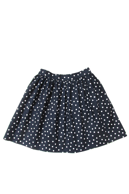 Toddler & Kids Navy Dot Bell Skirt