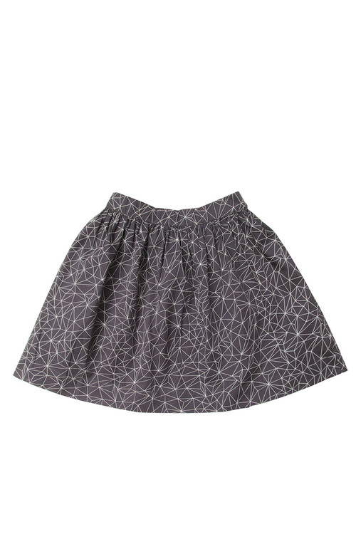 Toddler & Kids Melange Geo Print Bell Skirt
