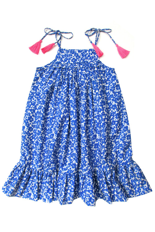 Toddler & Kids Blue floral Dress