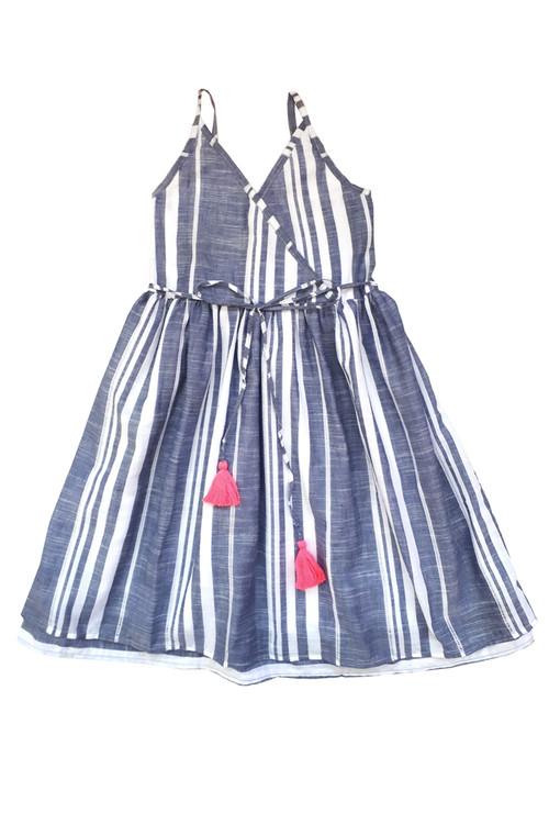 Toddler & Kids Eyelet Stripe Dress