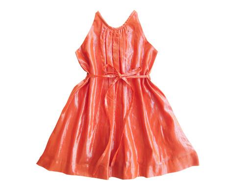 Sample Sale Tangerine Shimmer Dress