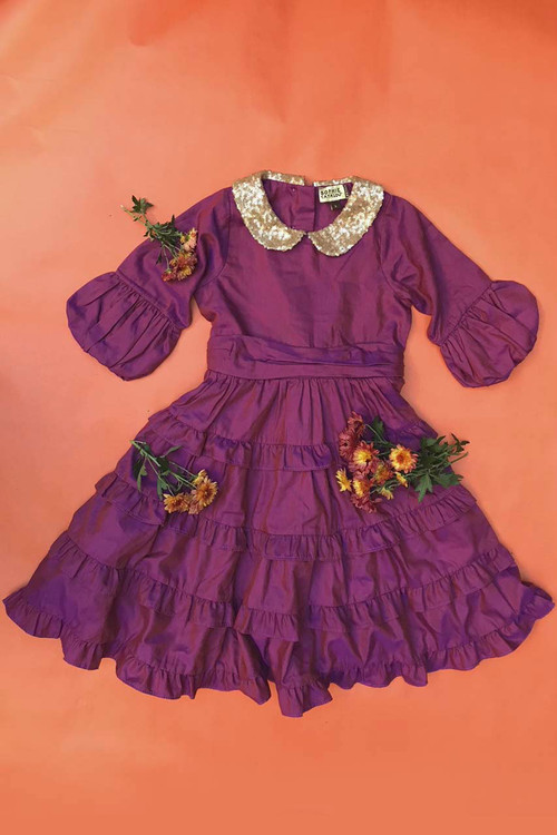 Toddler & Kids Purple Tatiana Dress