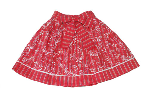 Sample Sale Red Stripes Red Skirt -18m