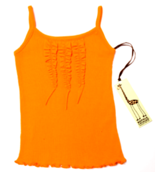 Sample Sale Orange Rib Tank
