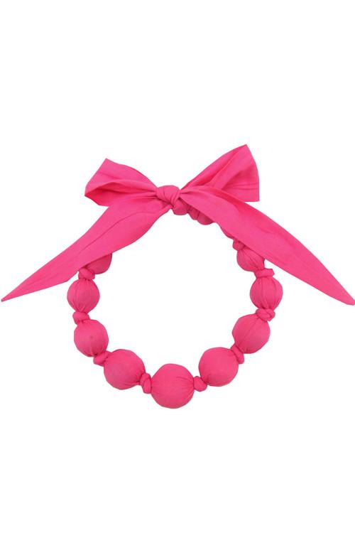 Bubblegum Wooden Bead Necklace