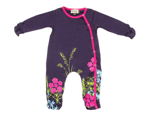 Sample Sale Purple Amenia Baby Romper