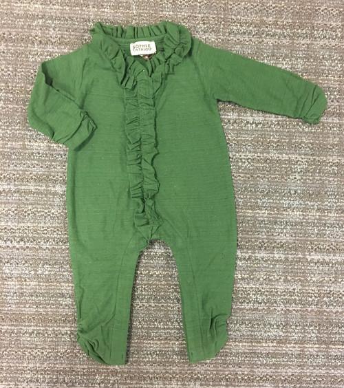 Sample Sale Olive Knit Romper