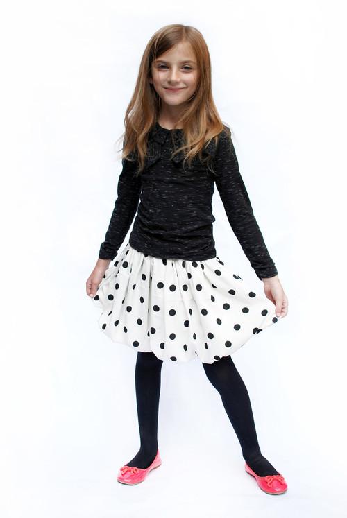Snow White & Black Polka Dot Skirt