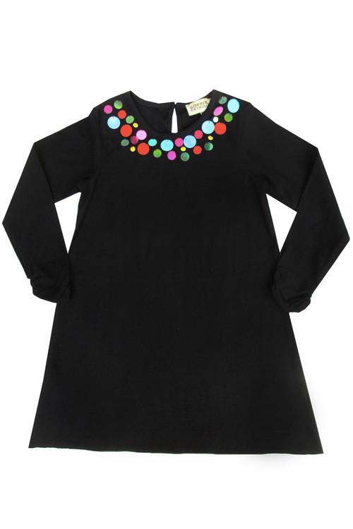 Black Mondrian Sequin Dress